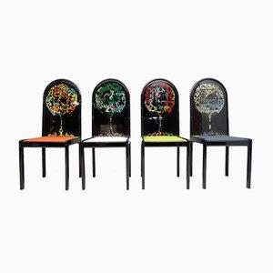 Limitierte Auflage The Four-Direction Chairs von Björn Wiinblad für Rosenthal, 4er Set