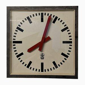 Large East German Factory Clock from Gw Geratewerk, Leipzig, 1950s