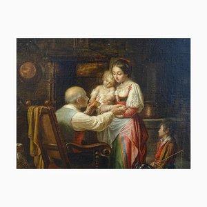 Tägliche Szene, Öl auf Leinwand, D. Bartolini, 1858