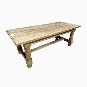 Bleached Oak Farmhouse Dining Table