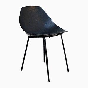 Schwarzer Coquillage Stuhl von Pierre Guariche für Meurop, 1960er
