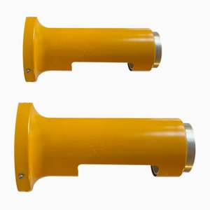 Vintage Yellow Wall Sconces by Peter Avondoglio for Fog & Mørup, 1970s, Set of 2