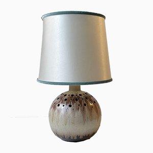 Skandinavische Sphärische Moderne Keramik Tischlampe, 1970er