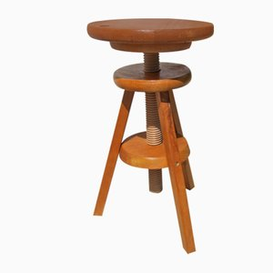 Architect's Stool with Solid Wood Lift