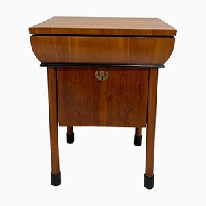 Neoclassical Biedermeier Cherry Wood Veneer Small Table, 1830s