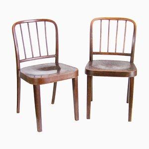 Thonet A811 / 4 Stühle von Josef Hoffmann, 2er Set