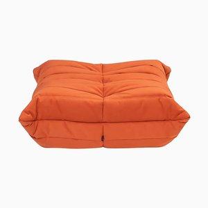 Togo Kadmiumfarbener Orangefarbener Fußhocker von Michel Ducaroy für Ligne Roset