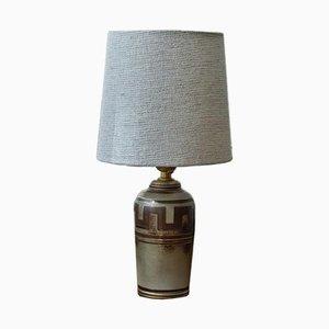 Flambierte Tischlampe aus Steingut von Gunnar Nylund, 1950er