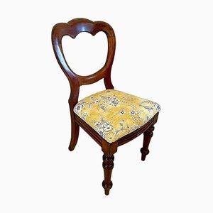 Antiker viktorianischer Beistellstuhl aus Mahagoni