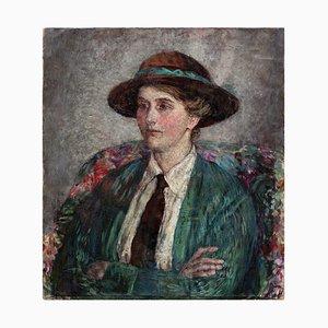 Farlie Harmar, Portrait Of Phyllis Harmar, Öl auf Leinwand