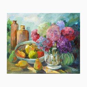 Liliane Paumier, Hortensias et Fruits, 2020