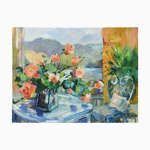 Liliane Paumier, Bouquet Devant la Fenêtre, 2021