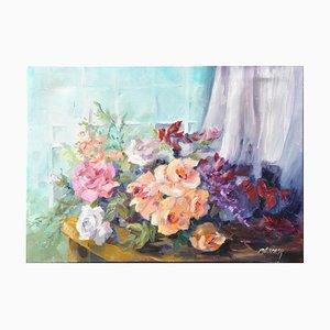 Liliane Paumier, Roses et Voilage, 2020