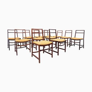 Mid-Century Dining Chairs by Renato Venturi for MIM, 1950s, Set of 12