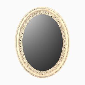 Silberner Buds Porzellan Spiegel von Giulio Tucci
