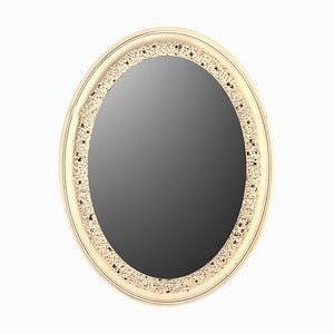 Silver Buds Porcelain Mirror by Giulio Tucci