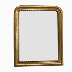 Louis Philippe Style Mirror with Gold Leaf, Late 19th Century