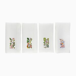 Oriental Garden Napkins by The NapKing for Bellavia Ricami SPA, Set of 4
