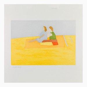 Alex Katz, Ohne Titel (Fliegender Teppich), 2008 Aquatinta Farbe