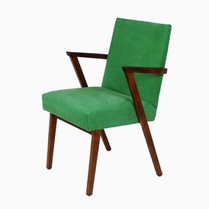 Dutch Armchair in Green Nubuck Leather from Tijsseling, 1960s