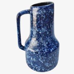 Jarrón en azul de West German Ceramics, años 70
