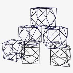 Dekorative Aluminiumwürfel, 1980er, 6er Set