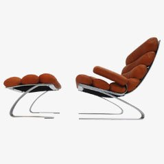 Sinus Lounge Chair by Reinhold Adolf & Hans-Jürgen Schräpfer for COR Germany, 1970s