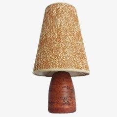 Lámpara de mesa Mid-Century de cerámica, años 50