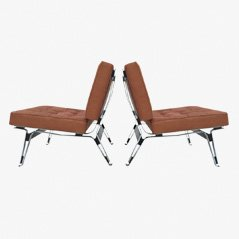 856 Leather Lounge Chairs by Ico Parisi for Cassina, 1957, Set of 2