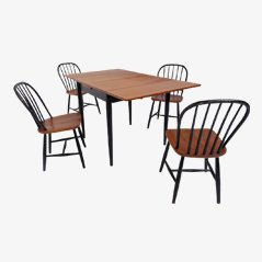 Dining Set from Akkerblom Sweden, Set of 5