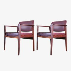 Vintage Rosewood Armchairs from Heinrich Roepstorff A/S København, Set of 2
