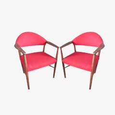 Vintage Teak Armchairs by Erik Kirkegaard, 1960, Set of 2