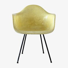Yellow Fiberglass Chair by Charles & Ray Eames for Hermann Miller