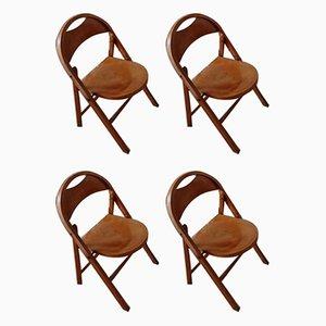 Chaises Pliantes B751 Vintage par Michael Thonet pour Thonet, Set de 4