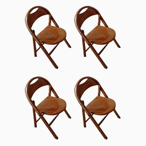 Vintage B751 Folding Chairs by Michael Thonet for Thonet, Set of 4