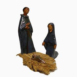 Crèche de Noël en Céramique par Elisabeth Vandeweghe, 1960s, Set de 4