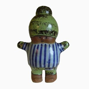 Stoneware Kalle Figure by Lisa Larson for Gustavsberg, 1964