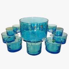 Murano Bowleschüssel und Glas Set