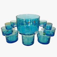 Murano Punch Bowl and Glass Set