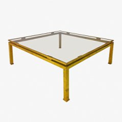 Vintage Brass Coffee Table by Guy Lefevree for Maison Jansen, 1970s