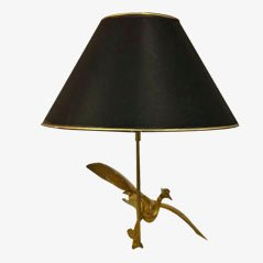 Vintage Brass Bird Table Lamp