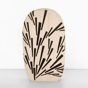 Burnt Chopping Board (Large), Pattern 4 de Alban Le Henry