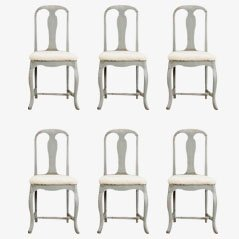 Antique Rococo Chairs, Set of 6, 1750
