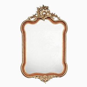 Antiker Rokoko Spiegel aus Vergoldetem Vergoldetem Holz