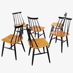 Fanett Dining Chairs by Ilmari Tapiovaara for Asko, 1955, Set of 6
