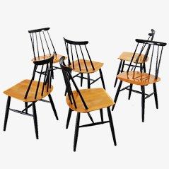 Fanett Dining Chairs by Ilmari Tapiovaara for Asko, 1955, Set of 6