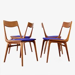 Boomerang Teak Chairs from Slagelse Møbelvaerk, 1960, Set of 4