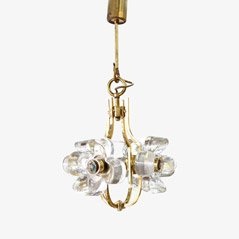 Crystal Brass Chandelier from Kalmar, Austria
