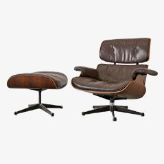 Lounge Chair and Ottoman by Ray & Charles Eames for Mobilier International