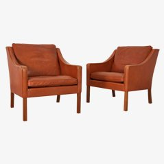 2207 Armchairs by Børge Mogensen, 1960s, Set of 2
